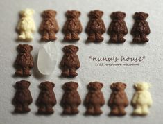 That is a piece of rice!! with the tiny chocolate bears