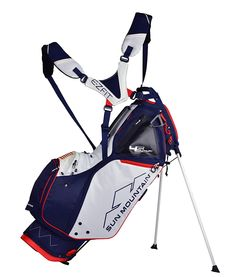Sun Mountain Golf- LS Supercharged Stand Bag Navy/white/red 190127 for sale online Putt Putt Golf, Golf Betting, Golf Bags For Sale, Dubai Golf, Golf Stand Bags, Hip Pads, Used Golf Clubs, Golf 4, Golf Outfit