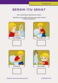 belajar membaca untuk SD kelas 1, belajar kebersihan pribadi untuk anak, cuci tangan dengan sabun