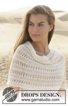 Diy Crafts - Hand knitted women's poncho in alpaca, silk and wool, spring summer shrug, hand made poncho, striped Knit Shrug, Crochet Shawl, Knit Crochet, Knit Beanie, Lace Knitting, Knitting Patterns Free, Knit Patterns, Knitting Socks, Knitted Hats