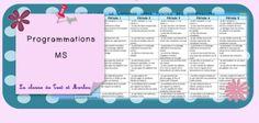 Programmations MS nouveaux programmes 2015 - La classe de Teet et Marlou New Program, School Programs, Programming, Montessori, Homeschool, Blog, Language, Teacher, How To Plan