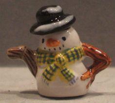 Snowman Teapot by Sally Meekins