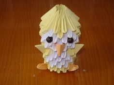 3D Origami Chick Tutorial