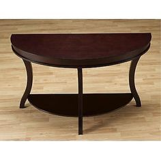 Wood Sofa Table Console Wood Display Hall Foyer Living Room Furniture Espresso