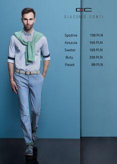 Stylizacja Giacomo Conti: Koszula Michele 2 15/04/01–W, Sweter Corrado 15/21 SR, Spodnie Abramo 14/17T  Buty 2452