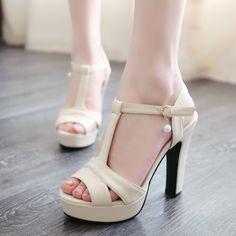 Barato Sandália sapatos de verão calcanhar grosso dedo aberto sapatos sandálias das mulheres 41 42 43, Compro Qualidade Sandálias das mulheres diretamente de fornecedores da China:    cor, tamanho ou altura do salto não pode ser alterado após 24 horas do pagamento. tamanho 29 a 33, tamanho 40 a 47 sã