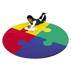 Children's Factory Round Puzzle Activity Mat Made of foam and vinyl covered nylon Easy to clean and great for school-age activities Recommended for all ages (affiliate)