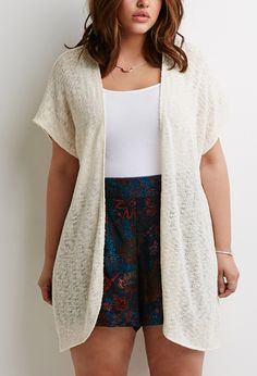 Loose-Knit Longline Cardigan | Forever 21 PLUS - 2049258948