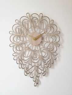 Darling Clock Lite by SarahMimoClocks on Etsy, $135.00. Expensive but SO pretty