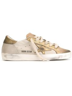 Golden Goose 'superstar' Sneaker (women) In Ivory Leather Trainers, Leather Shoes, Lace Sneakers, Super Star, Distressed Leather, Golden Goose, Luxury Branding, Shoe Bag, My Style