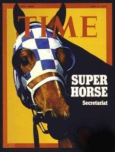 Photo TIME Magazine Cover Super Horse Secretariat 1973 $9.99
