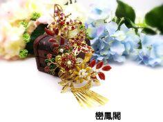 Handmade Chinese bridal headpieces  #中式頭飾