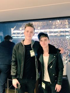Joe Sugg and Caspar Lee at The Vamps concert at the o2