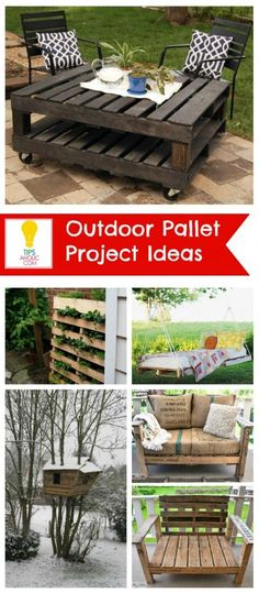 DIY Outdoor Pallet Projects Ideas...LOVE the oversized chair!  That will be perfect on my sun porch.