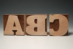 Wood Type - with lasers!