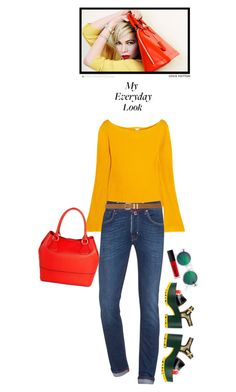 """""""Everyday Look"""" by juliehooper ❤ liked on Polyvore featuring Louis Vuitton, KÉJI, Merona, Jacob Cohёn, Marni, H&M, M&Co, Armour, Sweater and ootd"""