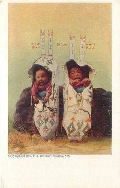Mouse over image to zoom Have one to sell? Sell now Details about SIOUX BABIES Little Bear White Bull Native American Indian Papoose Postcard 1905