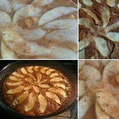 #applecake | #tortadimele #vegan - 180 g di farina di farro, 160 g di zucchero di canna grezzo bio, 230 ml di acqua e latte di nocciola, 1 bistina di lievito, un pizzico di sale, olio d'oliva, 1 mela (un po' per decorazione, un po' dentro a tocchetti). Cottura 180°C per 30 minuti. #merenda