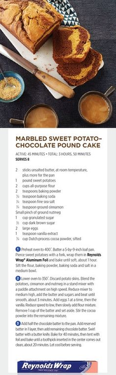 Chocolate tart with cocoa whipped cream from food network magazine marbled sweet potato pound cake with chocolate from food network magazine forumfinder Choice Image