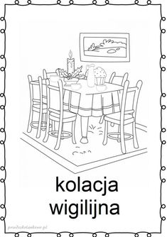 tradycje-kolorowanki11 Education, Advent, Christmas, Prints, Cards, Tourism, Therapy, Winter, Noel