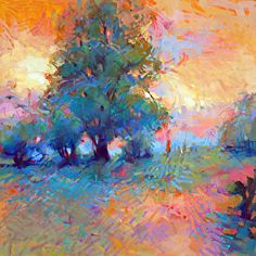 Summer Glory by Trisha Adams Oil ~ 30 x 30