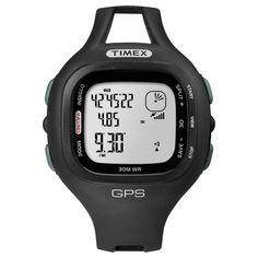 Timex T5K638 Men's Marathon GPS Black Resin Case Digital Dial Black Rubber Strap Watch