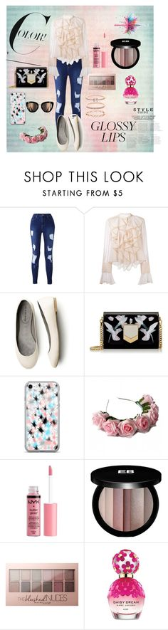 """""""Almost Valentine's Day"""" by unitaiyo ❤ liked on Polyvore featuring See by Chloé, Givenchy, Jimmy Choo, Zara Taylor, Charlotte Russe, Edward Bess, Maybelline, Marc Jacobs and Accessorize"""