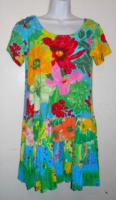 Jams World W329 Hattie Dress drop waist in Blue Garden BLGA fabric sz XS in Clothing, Shoes & Accessories, Women's Clothing, Dresses | eBay