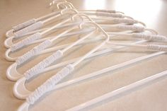 No-Slip Hanger Trick! Wrap with pipe cleaners   One Good Thing by Jillee