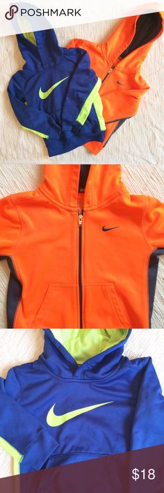 Boys Nike Hoodies Bundle of two boys Nike hoodies - one zip and one pullover. Pretty good overall condition but please remember these were worn by a little boy! Nike Shirts & Tops Sweatshirts & Hoodies