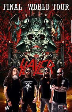 Saw them at the stop of this tour.and I have my tickets for the last stop! Heavy Metal Rock, Heavy Metal Music, Heavy Metal Bands, Jeff Hanneman, Thrash Metal, Tom Araya, Kerry King, Rock Poster, Band Wallpapers
