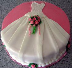Wedding dress cake by tiersofjoy73, via Flickr