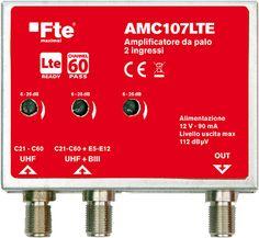 AMC107LTE amplificatore 2 ingressi dal C5 al C60 e dal C21 al C60