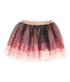 8b547eab4a012c Skirt in tulle with printed metallic dots and a glittery