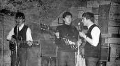 The Beatles performing at The Cavern, Liverpool, 1963
