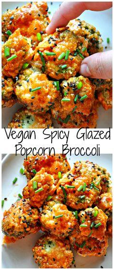 Vegan Spicy Glazed Popcorn Broccoli Vegan Spicy Glazed Popcorn Broccoli – Rabbit and Wolves - Delicious Vegan Recipes Vegan Foods, Vegan Dishes, Vegan Apps, Vegan Junk Food, Whole Food Recipes, Cooking Recipes, Recipes Dinner, Vegetarian Recipes, Healthy Recipes
