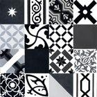 Mosaic del Sur - patchwork noir, gris et blanc