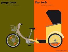 Paris vs. New York: la balade. All posters: http://parisvsnyc.blogspot.com/