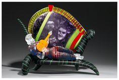 "Glass Art, Stanislaw Borowski, Artist, ""Legends of Rock"" glass sculpture photo by Chris (golden8888), via Flickr"