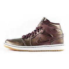 quality design 293b2 3a711 Nike Air Jordan 1 Mid Nouveau Mens 629151-605 Burgundy Basketball Shoes  Size 8.5