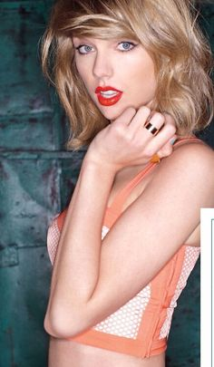 Taylor Swift. Not listening to those songs... Just staring into that face... Wow she is fit