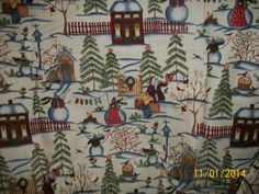 Carol Endres Fabric Snow Folk Collection 5 Yds. NEVER USED #Spectrix