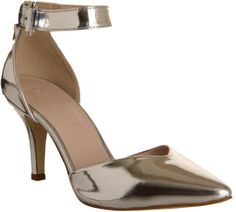 Office Gabby Two Part Court Silver Leather - Mid Heels on shopstyle.co.uk