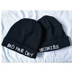 Love them Reminds me of me Wear hats on a bad hair day and shout out to my homies!