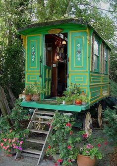 Tiny house, living in a small space, plans, interior cottage DIY, modern small house on wheels- Tiny house ideas Tiny House, Gypsy Home, Gazebos, Gypsy Living, Caravan Living, Shepherds Hut, House On Wheels, Little Houses On Wheels, Gypsy Style