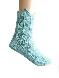 Funny, great to wear fairytale socks (or patchwork socks, or medieval socks). Handmade by myself. Size EU 41-42/UK 8.5-9/US 10.5-11.5 Handknitted by myself. Made from Fashion Meilenweit by Lana Grossa, 80% virgin wool, 20% polyamid