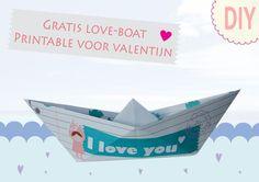 Valentine printable bootje Metdehand