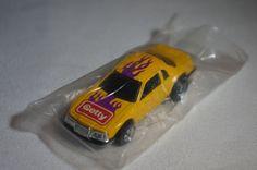 Hot Wheels Thunderburner Thunderbird Stocker Yellow Getty Oil Promotional 1990  #HotWheels #Ford