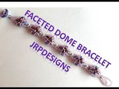 Hi Fellow Beaders, In this tutorial, Im working with Potomac Bead company to bring you my new Faceted Dome Bracelet. Im using some new beads that Potomac Bead company now has available at their stores. Beaded Bracelets Tutorial, Seed Bead Bracelets, Handmade Bracelets, Jewelry Bracelets, Handmade Jewelry, Diy Jewelry Tutorials, Beading Tutorials, Video Tutorials, Beaded Jewelry Patterns