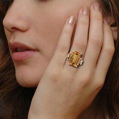 Vintage Citrine Ring
